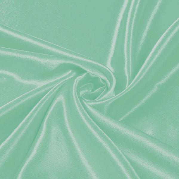 Crepe Satin Mint Satin Crêpe Fabric
