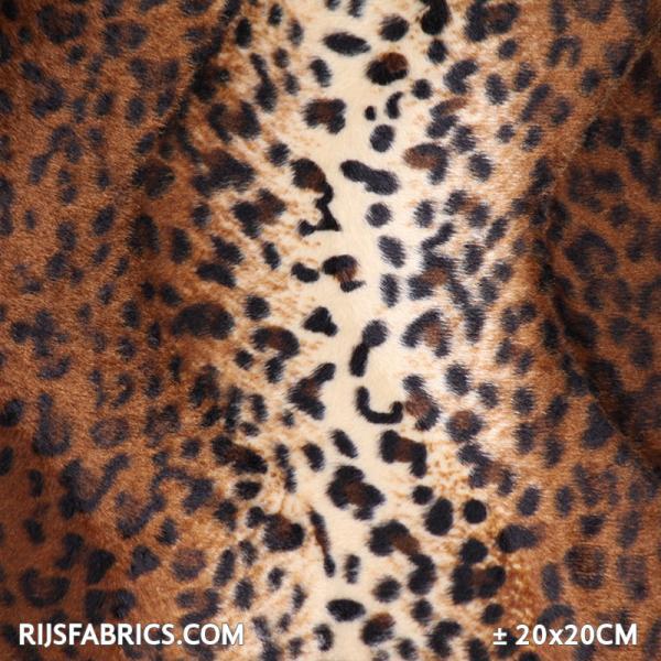 Velboa Jaguar Brown Velboa Fabric