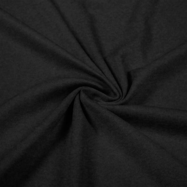 Heavy Jersey Melee Dark Grey Jersey Knit Fabric Heavy Weight