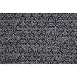 Jersey Fabric - Water Lily Black Grey Printed Jersey Fabric Punta Quality