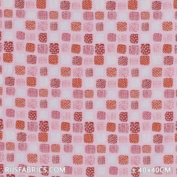 Child Fabric – Television Pink Child Fabric Cotton