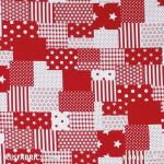 Child Fabric – Patchwork Fabric Red White Child Fabric Cotton