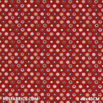 Child Fabric - Stars In Cookie Red Child Fabric Cotton