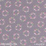 Child Fabric - Flower Garland Grey Child Fabric Cotton