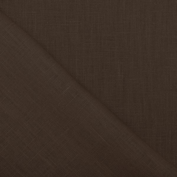 Linen Fabric Dark Brown Linen Fabric Washed