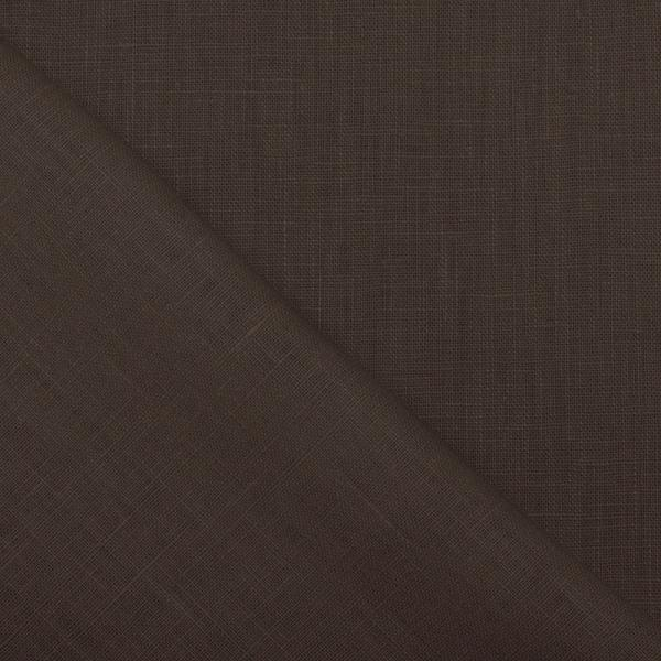 Linen Fabric Dark Liver Linen Fabric Washed