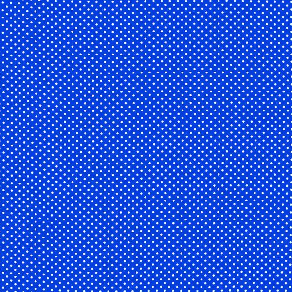 Polka Dot Fabric Cobalt / White 2mm Dots 2 mm
