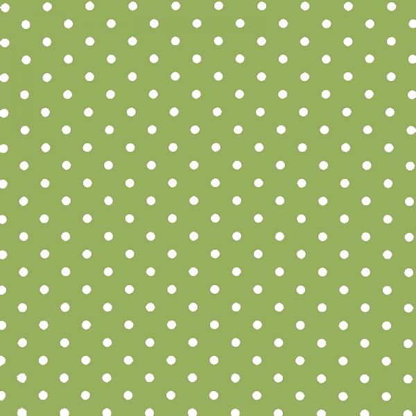 Polka Dot Fabric Lime / White 7mm Dots 7 mm