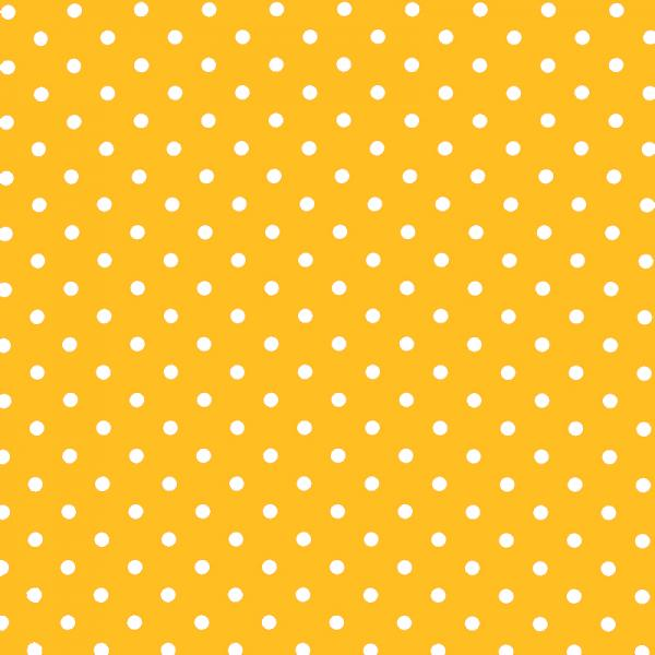 Polka Dot Fabric - Yellow / White 7mm | Rijs Tilburg BV