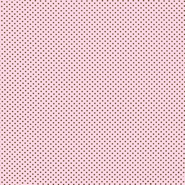 Polka Dot Fabric Pink / Brown 2mm Dots 2 mm