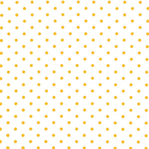 Polka Dot Fabric - White / Yellow 7mm | Rijs Tilburg BV
