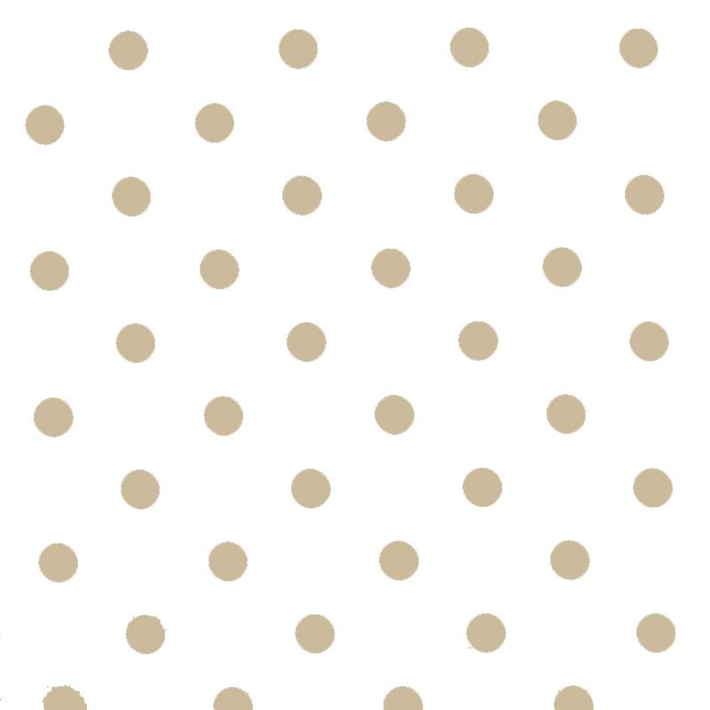 Polka Dot Fabric White Beige 18mm