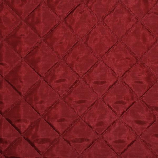 Lining Dark Red Quilted 5cm Lining Fabric Quilted