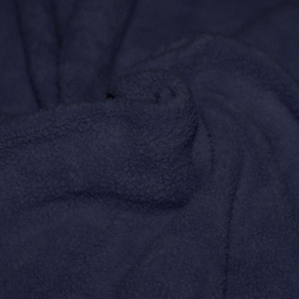 Cotton Fleece Fabric (Sherpa) Navy Cotton Fleece Fabric (Sherpa)