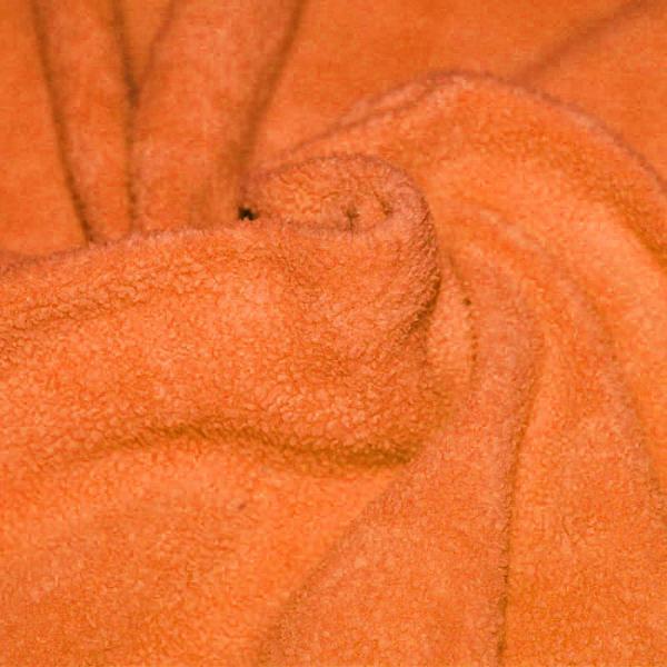 Cotton Fleece Fabric (Sherpa) Orange Cotton Fleece Fabric (Sherpa)