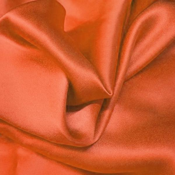 Satin Cotton Stretch Orange Cotton Satin Fabric