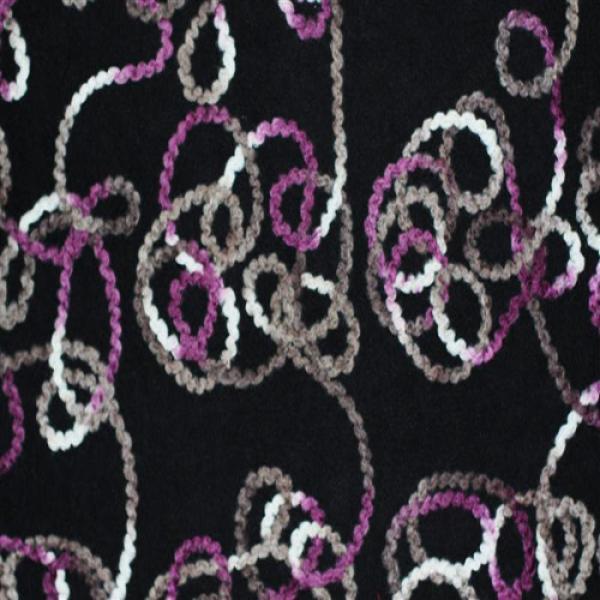 Wool Boucle Fabric Garland Purple Wool Fabric