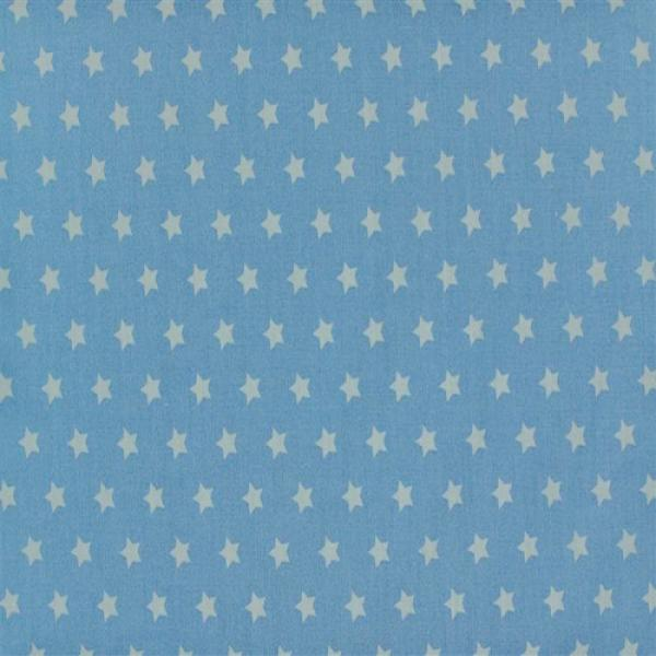 Star Fabric Baby Blue 9 mm 9mm Stars On Cottton Fabric