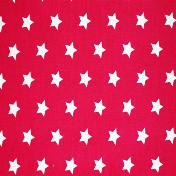Star Fabric Fuchsia 20 mm 20mm Stars On Cottton Fabric