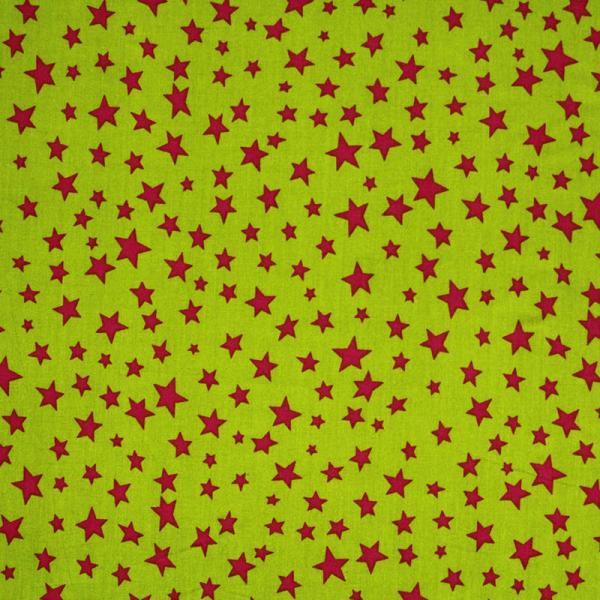 Star Fabric Lime Fuchsia Color Mix Star Fabric