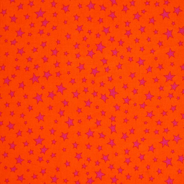 Star Fabric Orange Fuchsia Color Mix Star Fabric
