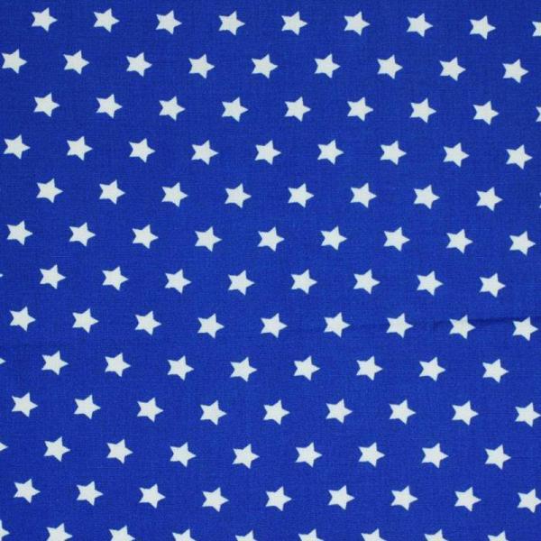 Star Fabric Cobalt 9 mm 9mm Stars On Cottton Fabric