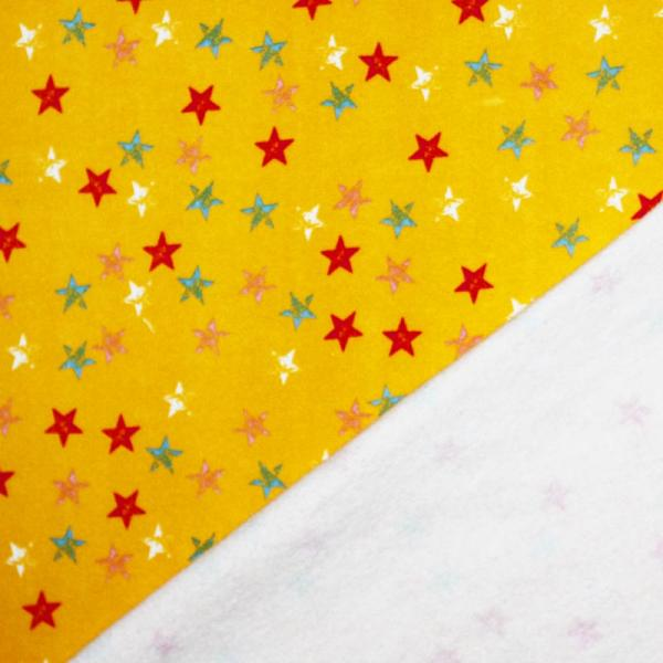 Jogging Fabric With Stars Yellow Jogging Fabric Printed
