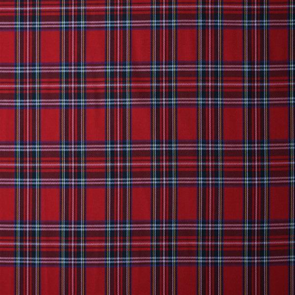 Scottish Tartan Fabric Red Stuart Scottish Tartans Fabric