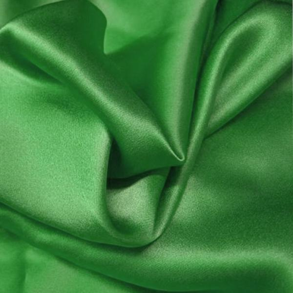 Satin Cotton Stretch Grass Green Cotton Satin Fabric