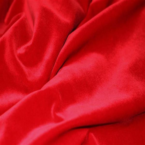 Velvet Fabric Stretch Red Velvet Fabric 4-Way Stretch